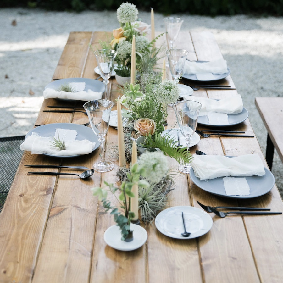 Calligraphy Table Setting Square